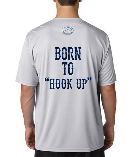 "Fish Bandit® Solar Flex Short Sleeve, 40+UPF ""Born to Hook Up"""