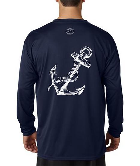 "Fish Bandit® Solar Flex Long Sleeve, 44+UPF ""Anchor"""