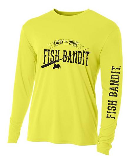 "Fish Bandit® Solar Flex Performance Long Sleeve, 44+UPF ""Lucky Shirt"""