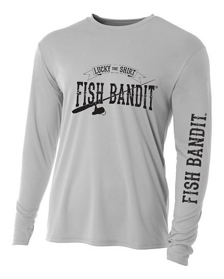 "Fish Bandit® Solar Flex Performance Long Sleeve, 44+ UPF ""Lucky Shirt"""