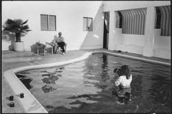 George Lange and Annie Leibovitz shooting Steve Martin