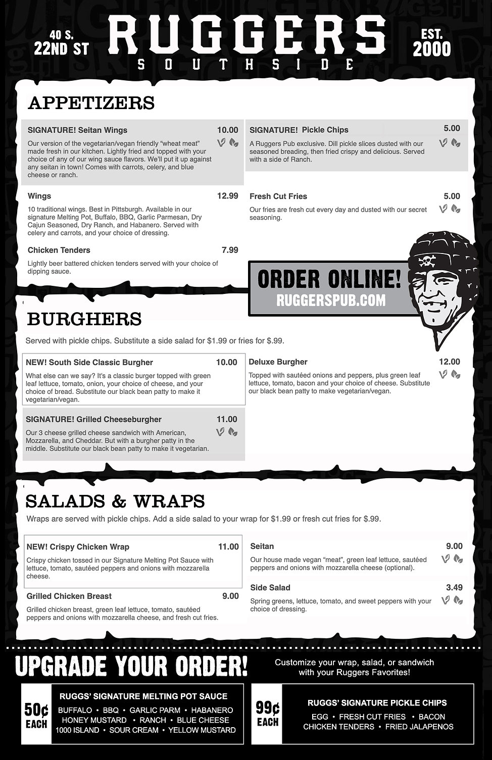 ruggers-pub-southide-pittsburgh-menu-pub