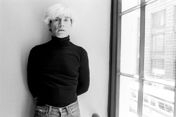 George Lange photographs Andy Warhol in New York, NY