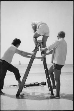 George Lange and Annie Leibovitz shooting Pat Benetar