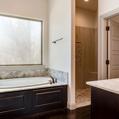 Master, Full, & Half Baths from Whole Home Build by S. Clements Homes, Caddo Mills, TX