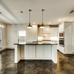 Kitchen Design, as part of a whole home build by S. Clements Homes in North Texas.