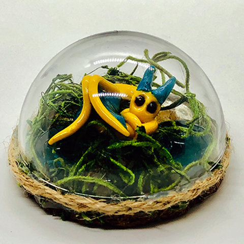 Yellow or Green Small Terrariums