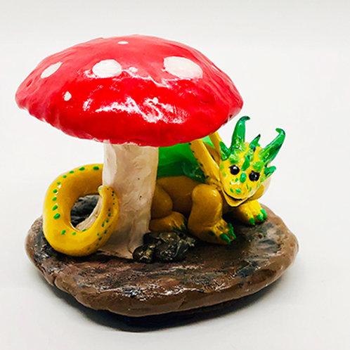 Sculpture Mushroom Dragon