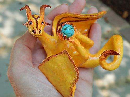 Gold Solar Flare Sculpture