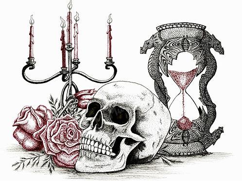 """Time"" Ink Print"