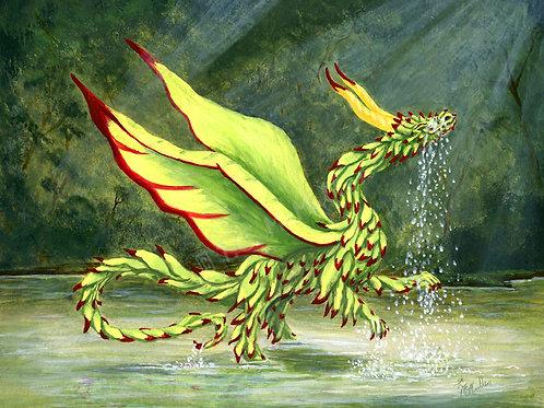 Wispy Dragon Print