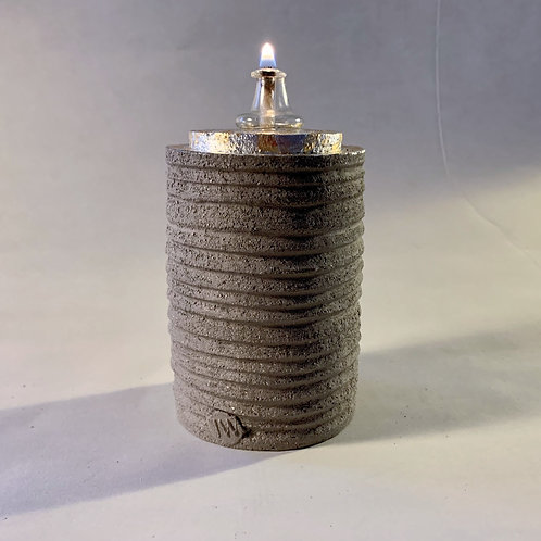 Grey Carved Oil Burner