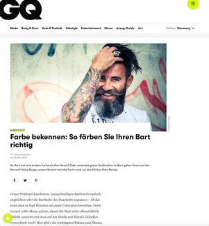 Grooming & Fitness: Bart färben