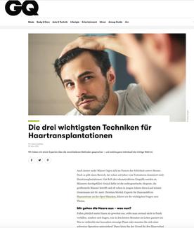Grooming & Fitness: Haartransplantation