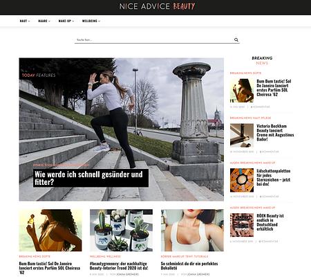 website niceadvicebeauty.com