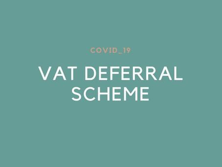Covid-19 VAT Deferral Scheme