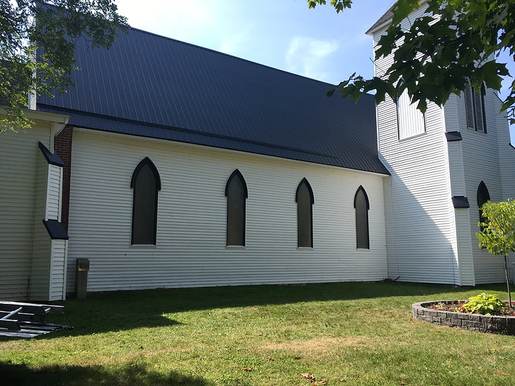 metal roof church