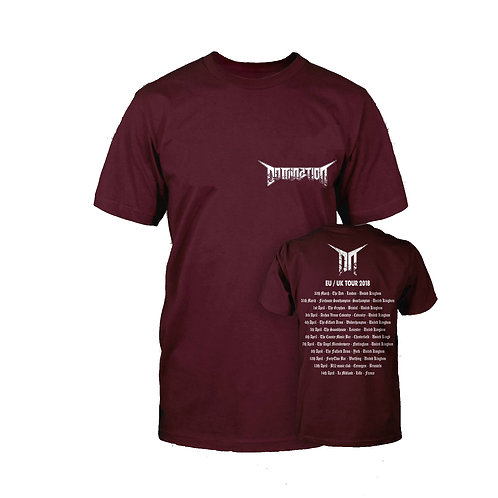 EU/UK Tour 18' Maroon T-Shirt