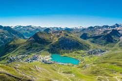Vue Panoramique du lac de Tignes