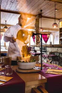 Flambée au Bagus Café