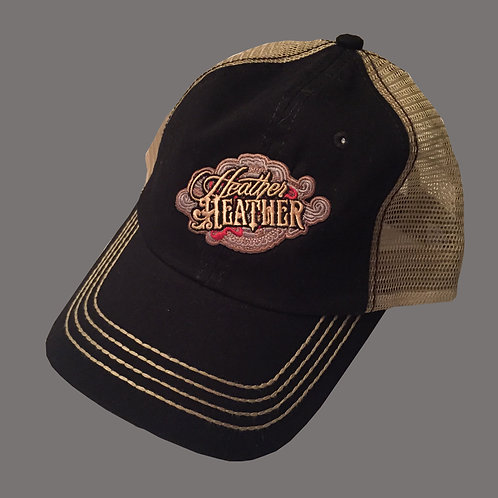 Heather Heather  Black and Tan Hat