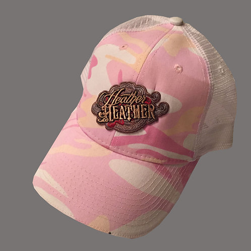 Heather Heather Pink Camo Hat