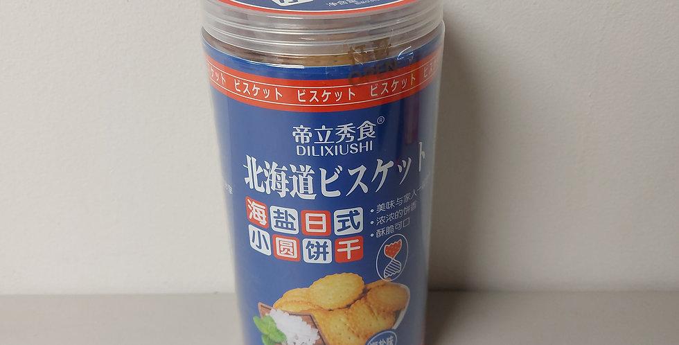 北海道 日式小圆饼干 海盐味  228g