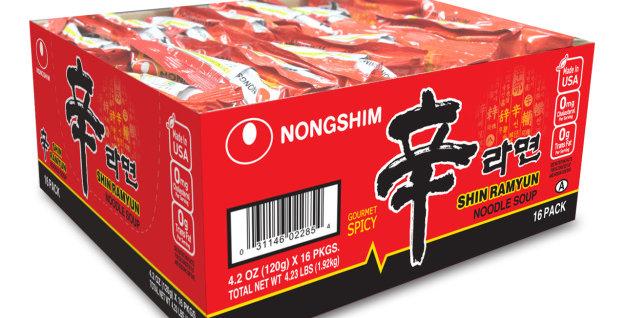 韩国NONGSHIM辛拉面一箱16包