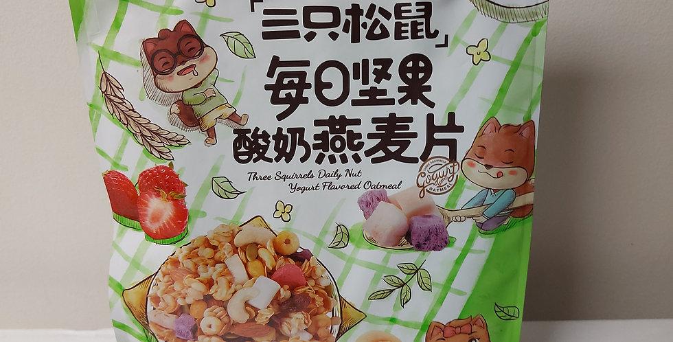 三只松鼠 每日坚果 酸奶麦片 400g