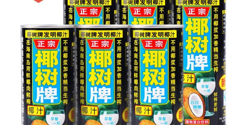 海南椰树牌 椰汁 6罐装 245ml