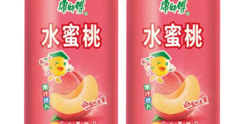 康师傅 水蜜桃 罐装 312ml* 6罐