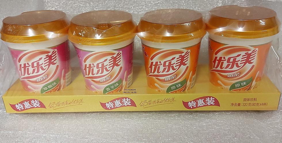 喜之郎 优乐美椰果奶茶 4杯入