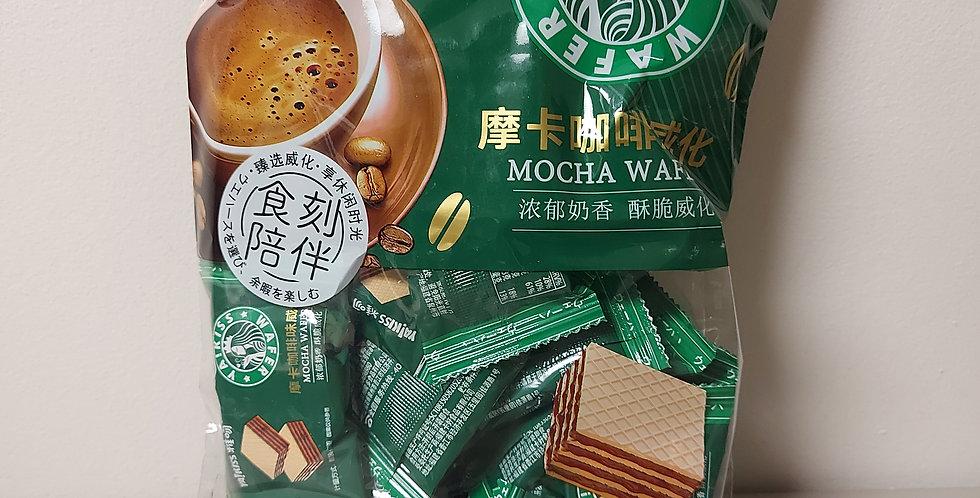 雅吻 威化饼干 摩卡咖啡味 188g