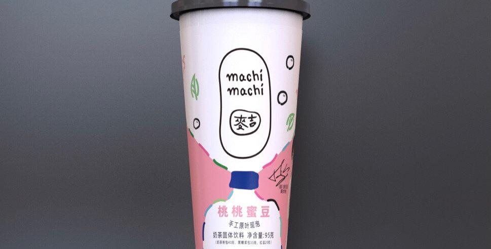 麦吉 桃桃蜜豆奶茶 95g