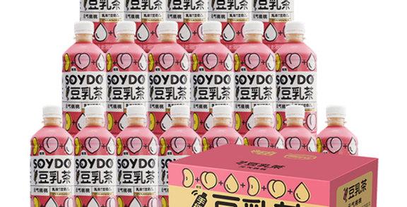 达利园 豆乳茶 元气桃桃味 500ml