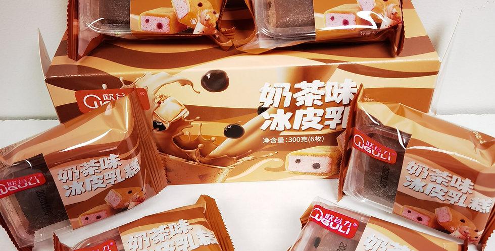 欧谷力 奶茶味冰皮乳糕 6枚装