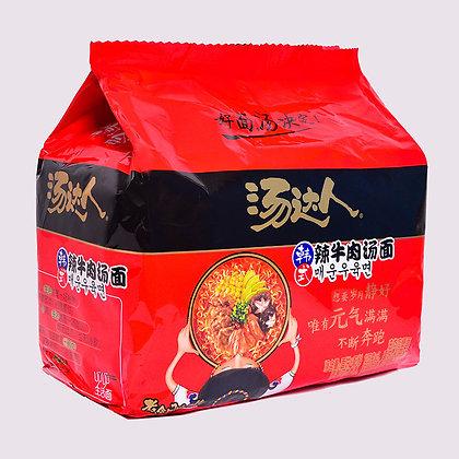 汤达人韩式辣牛肉面(5连包)