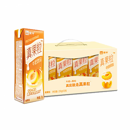 蒙牛 真果粒 牛奶饮品 黄桃颗粒(12瓶盒装)
