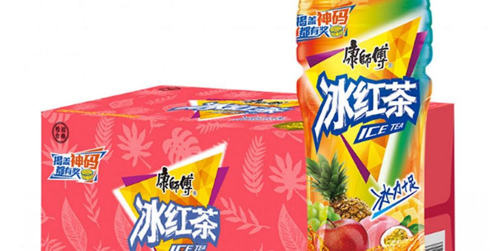 康师傅 冰红茶 热带水果味 500ml 整箱装