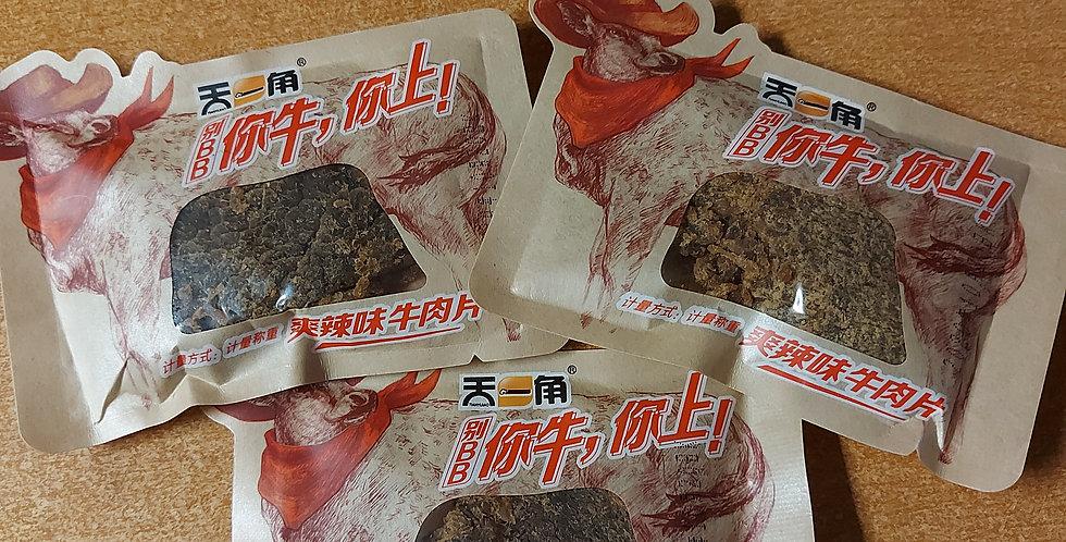 天一角 爽辣味牛肉干 25g*3袋