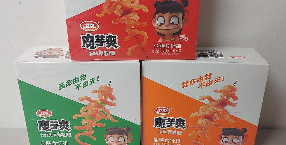 卫龙 三盒魔芋爽 香辣味 & 泡椒味 & 麻辣味 20包入 400g
