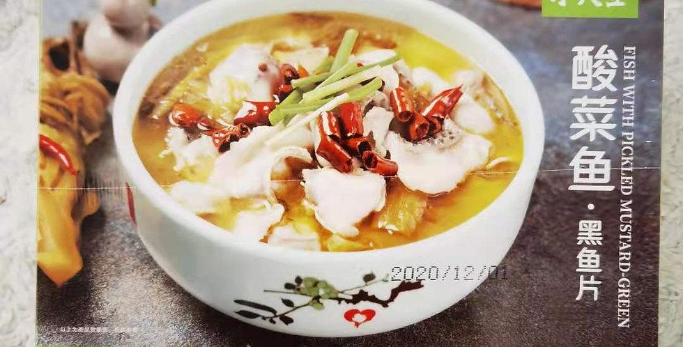水天堂 酸菜鱼黑鱼片 450g