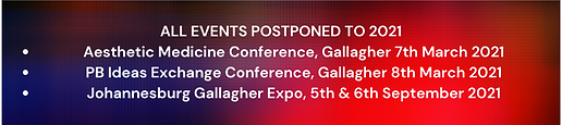 DUE TO COVID GALLAGHER EXPO WILL ONLY TA