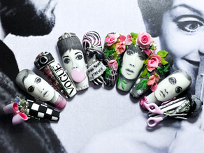 Chantelle Ayres wins 'Swinging Sixties' nail competition