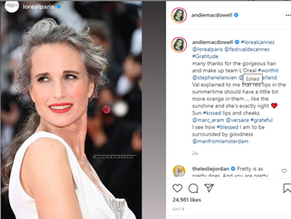 Grey hair makes a stand at the Cannes Film Festival