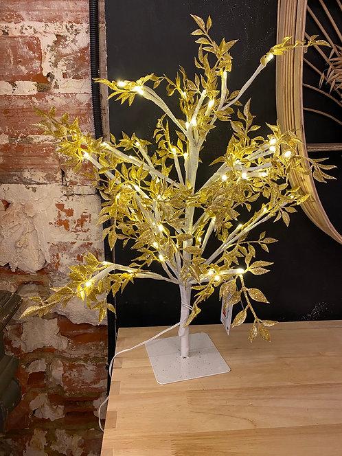 Arbre lumineux doré