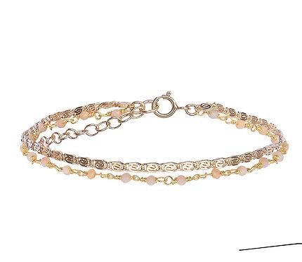 Bracelet Fanette  rose