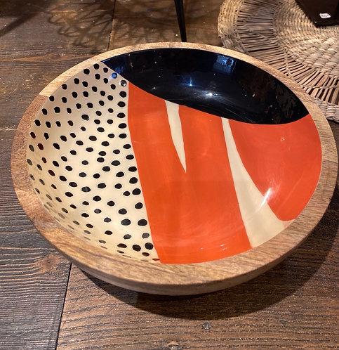 Coupelle pop en bois de manguier
