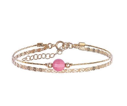 Bracelet Jacinthe rose