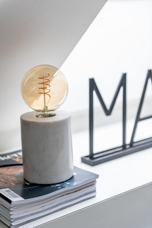 Pied de lampe en marbre